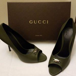 Gucci open toe heels
